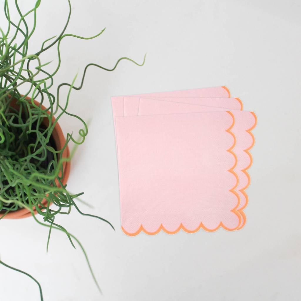 Servet roos oranje L