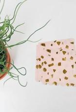 Servet roos goud L