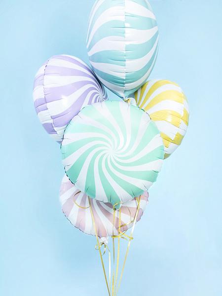Folieballon snoep pastel roos