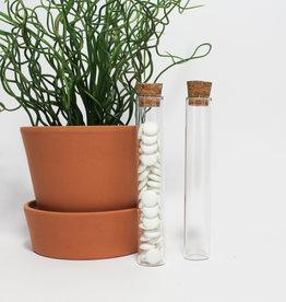 Glazen koker met kurk - 15 cm