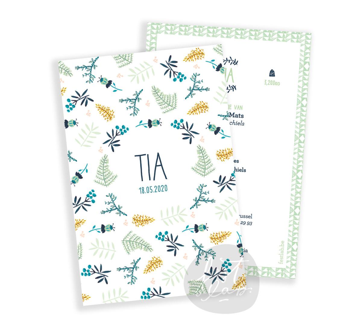 Geboortekaartje Tia