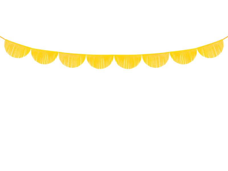 Papieren guirlande geel