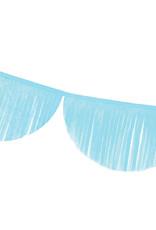 Papieren guirlande lichtblauw