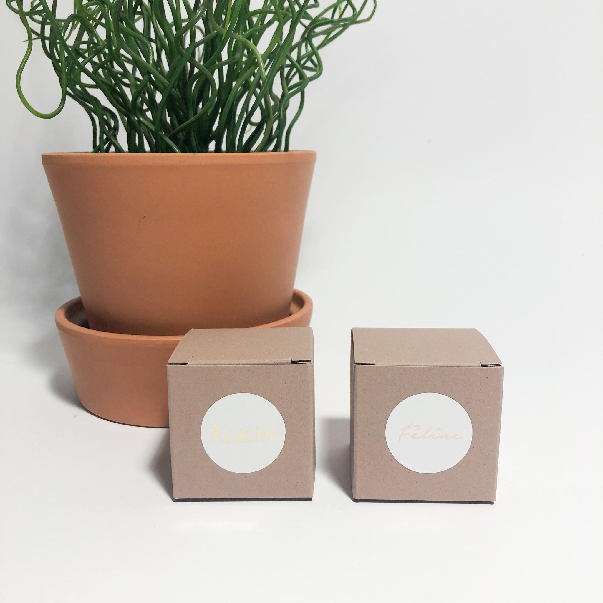 Ronde sticker 3cm met foliedruk