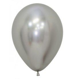 Ballon zilver blinkend