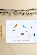 Kerstkaart Vogeltjes