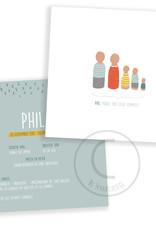 Geboortekaartje Phil of Jil