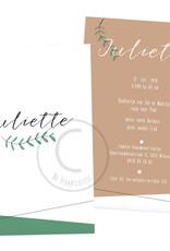 Geboortekaartje Juliette