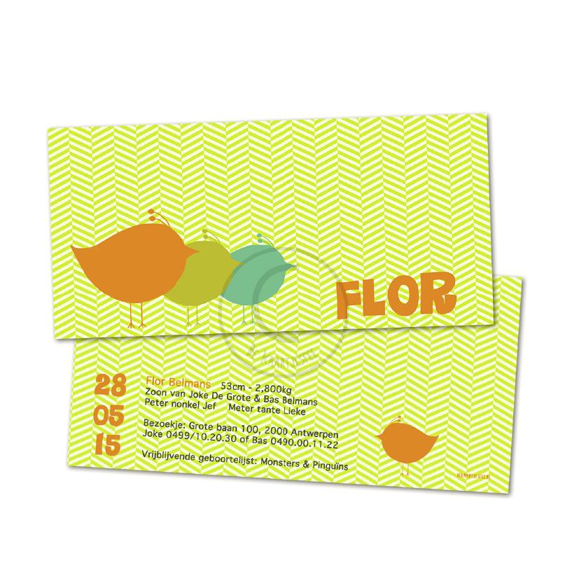 Geboortekaartje Flor