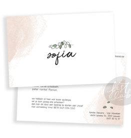 Geboortekaartje Sofia