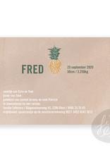 Geboortekaartje Fred