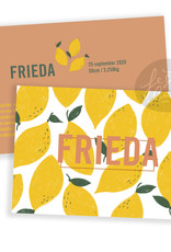 Geboortekaartje Frieda