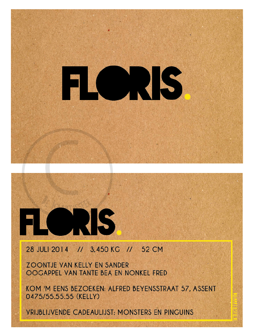 Geboortekaartje Floris