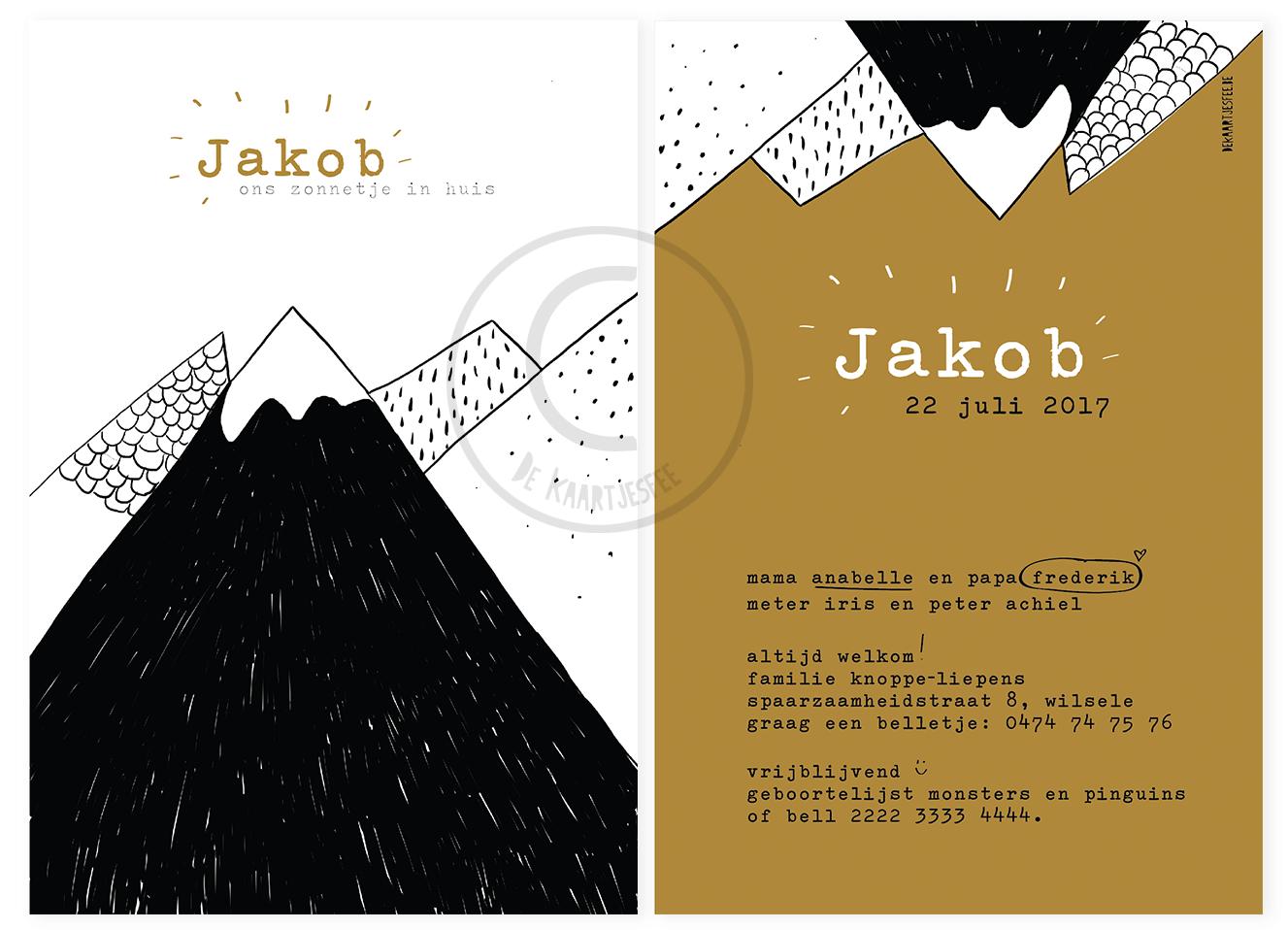Geboortekaartje Jakob