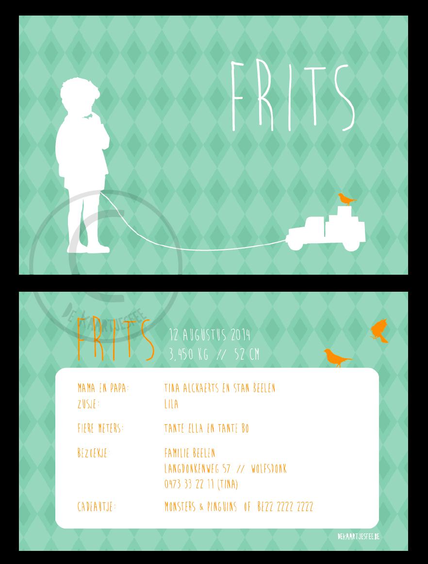 Geboortekaartje Frits