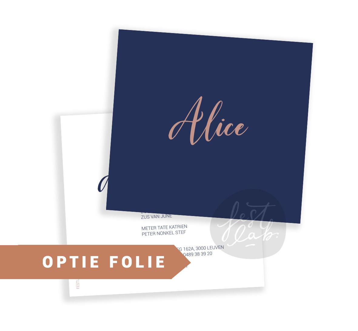 Geboortekaartje Alice