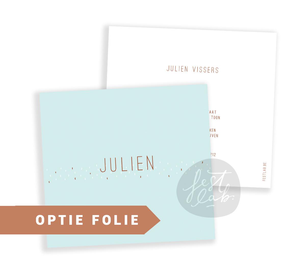 Geboortekaartje Julien