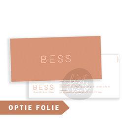 Geboortekaartje Bess