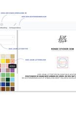 Ronde stickers • 4cm • zelf maken
