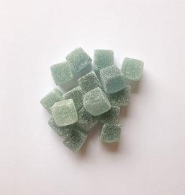 Snoepblokjes blauw / zijdegroen