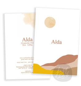 Geboortekaartje Alda