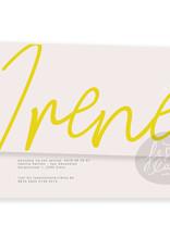 Geboortekaartje Irene