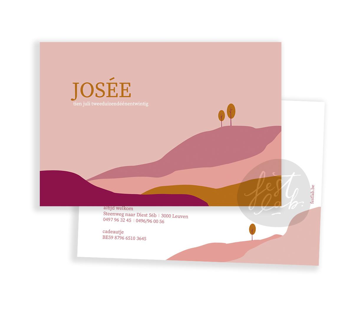 Geboortekaartje Josée