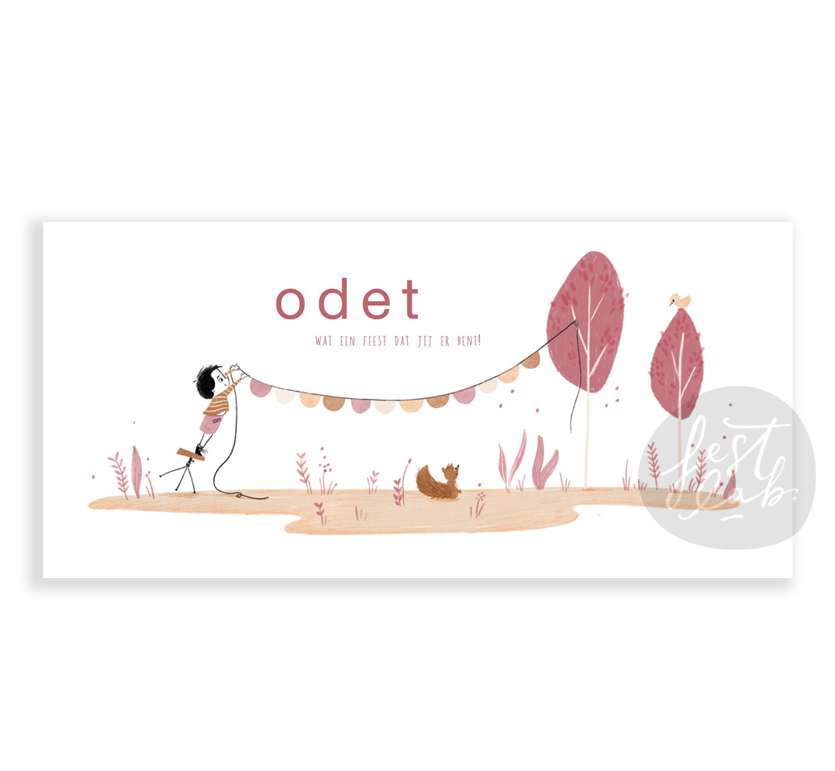 Geboortekaartje Odet