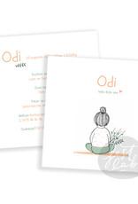 Geboortekaartje Odi / Ron