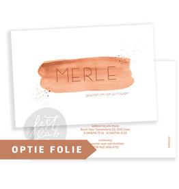 Geboortekaartje Merle
