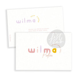 Geboortekaartje Wilma