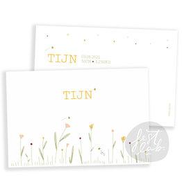 Geboortekaartje Tijn