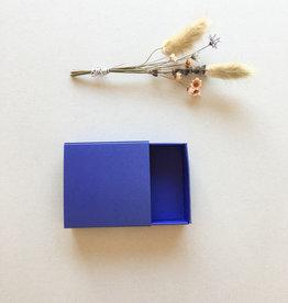 Vierkant schuifdoosje Paarsblauw - uitverkoop