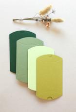 Uitverkoop - Mix pillowdoosjes - groen