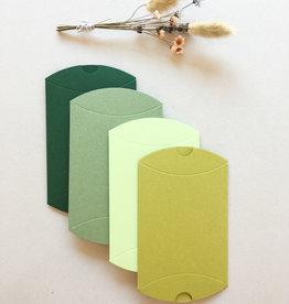 Mix 12 pillowdoosjes - groen - uitverkoop