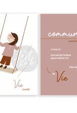 Communiekaart / uitnodiging Vie