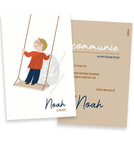 Communiekaart / uitnodiging Noah