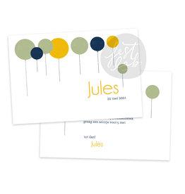 Communiekaart / uitnodiging Jules