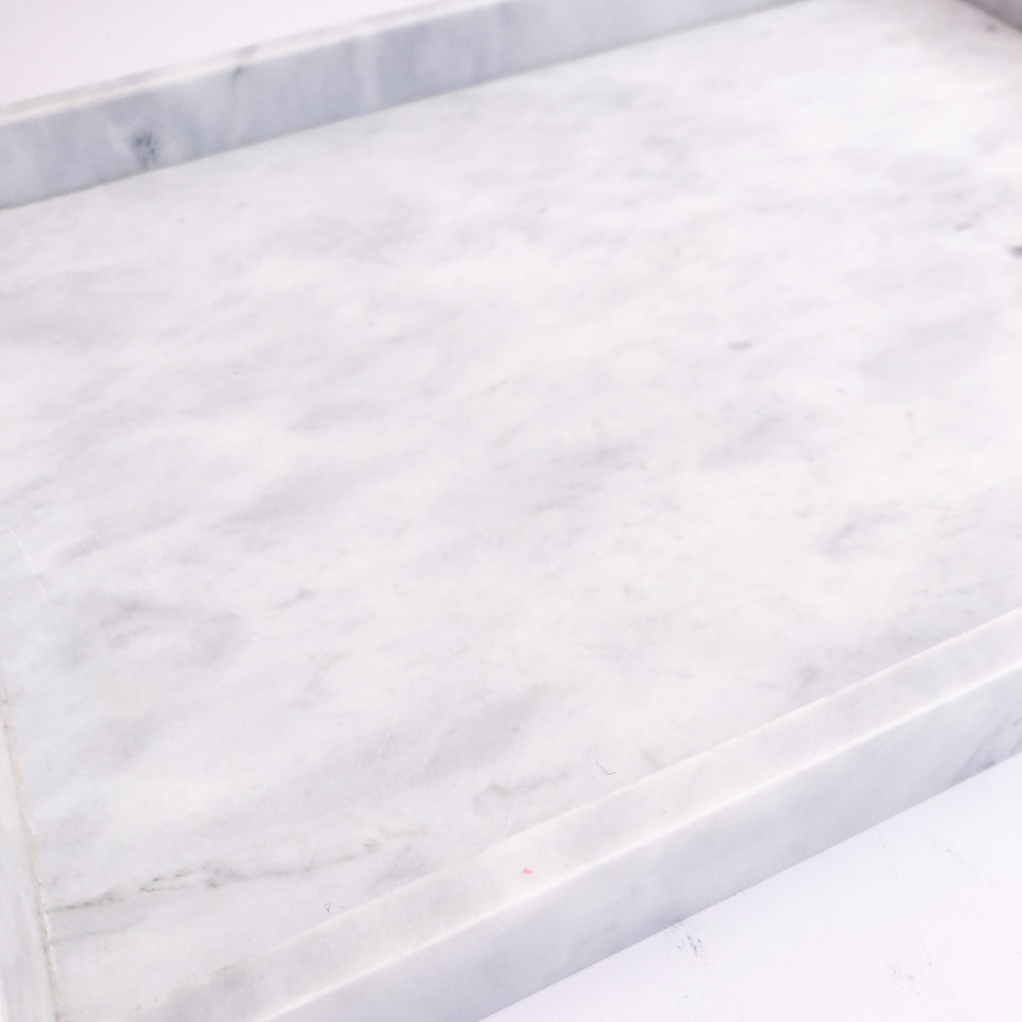 Dienblad marmer wit