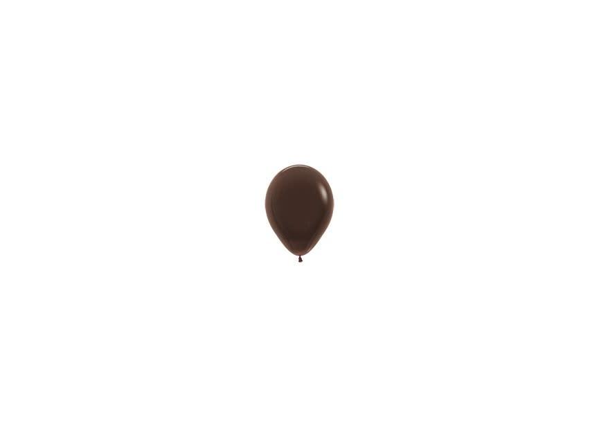 Ballon donkerbruin klein