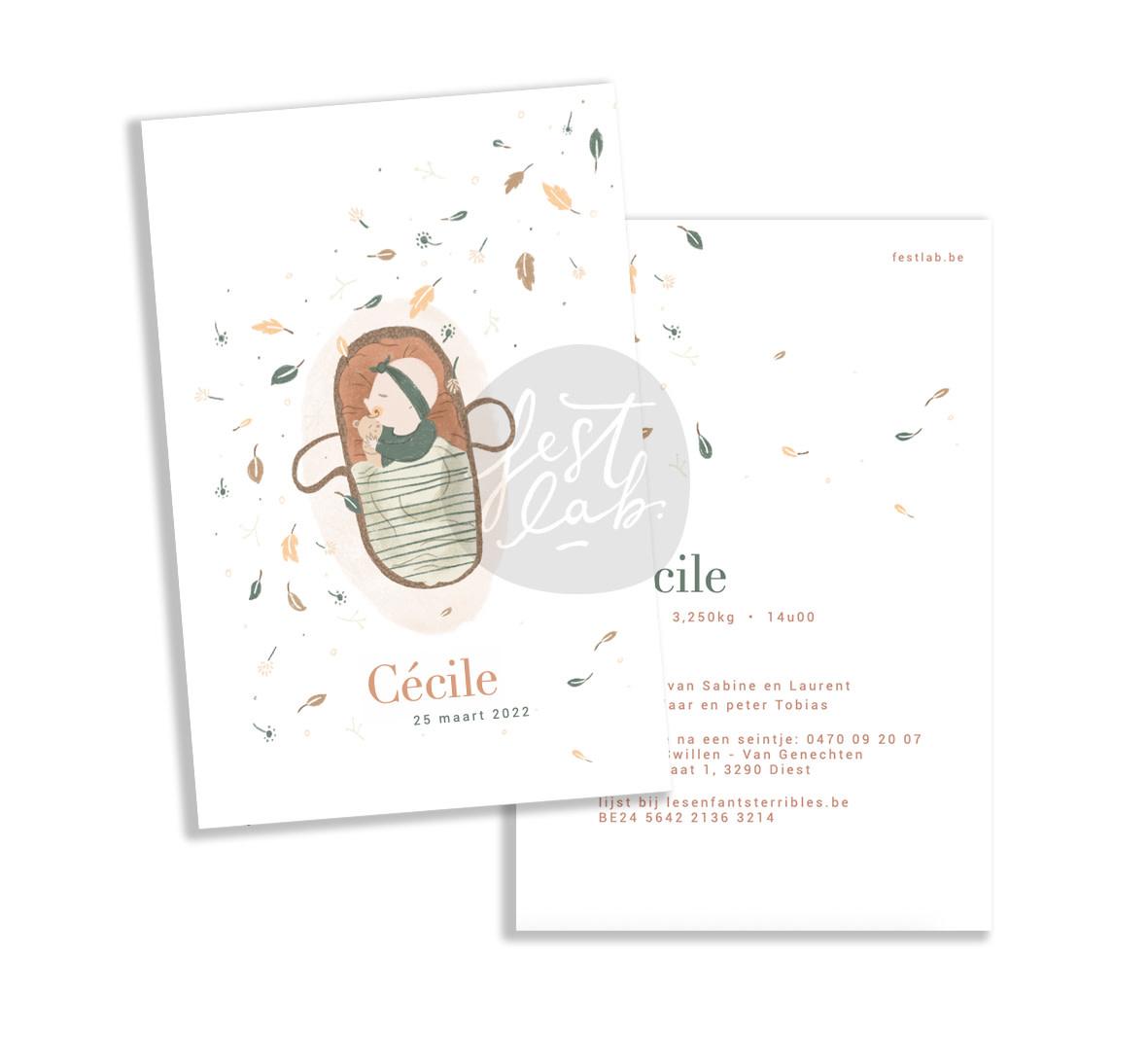Geboortekaartje Cécile