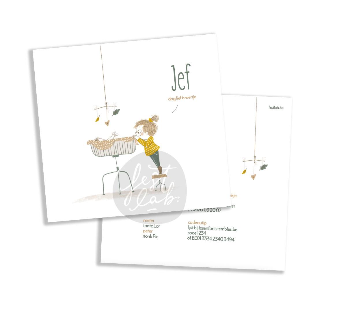 Geboortekaartje Jef