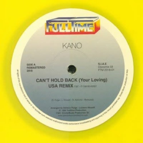 Kano / Jimmy Ross - Can't Hold Back / Fall Into Trance