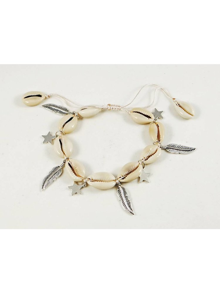 J.Y.M. Shells ankle bracelet with spring charms