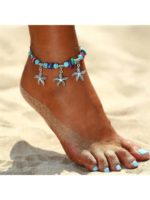 J.Y.M. Anklets Colorful Beads