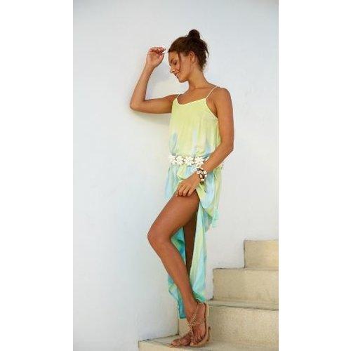 Hot Lava Maxi dress Nina Tie Dye Papagayo