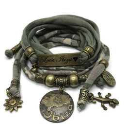 Esperanza Deseo Bracelet Love Ibiza Army print & Green