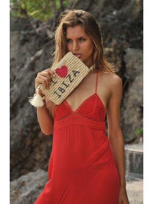 Hot Lava Clutch Seagrass I Love Ibiza