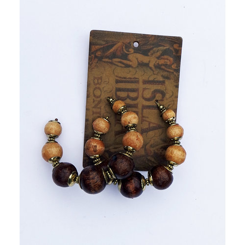 Isla Ibiza Bonita Earrings Wooden  Beads