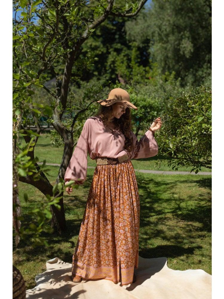 Hot Lava Skirt Sidney Velvet Rose